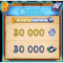 30000 Монет + 30000 Кирпичей