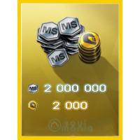 2000 Золота + 2 000 000 MS