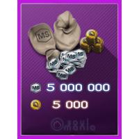 5000 Золота + 5 000 000 MS