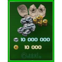 10 000 Золота + 10 000 000 MS
